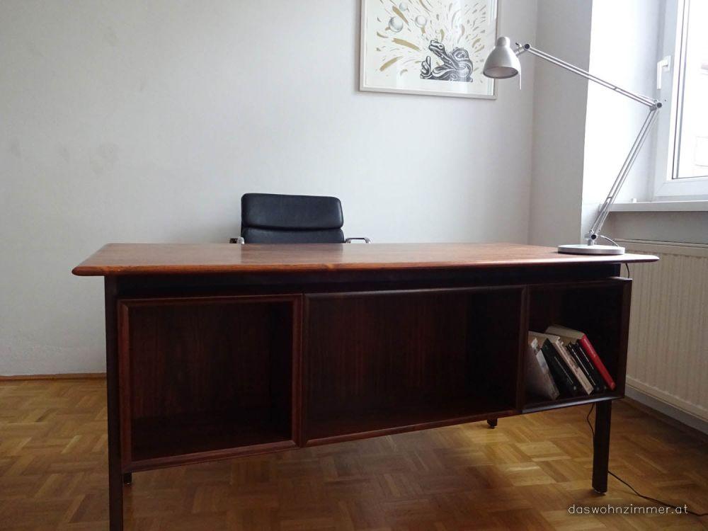 schreibtisch in palisander. Black Bedroom Furniture Sets. Home Design Ideas